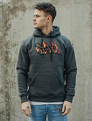 Толстовка Staff fire logo fleece осень/зима графит M