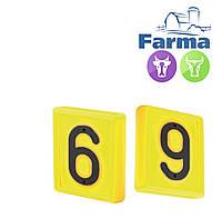 """Блок цифровой """"6"""" (48*59мм) к ошейнику для идентификации животных FARMA (Нидерланды)"""