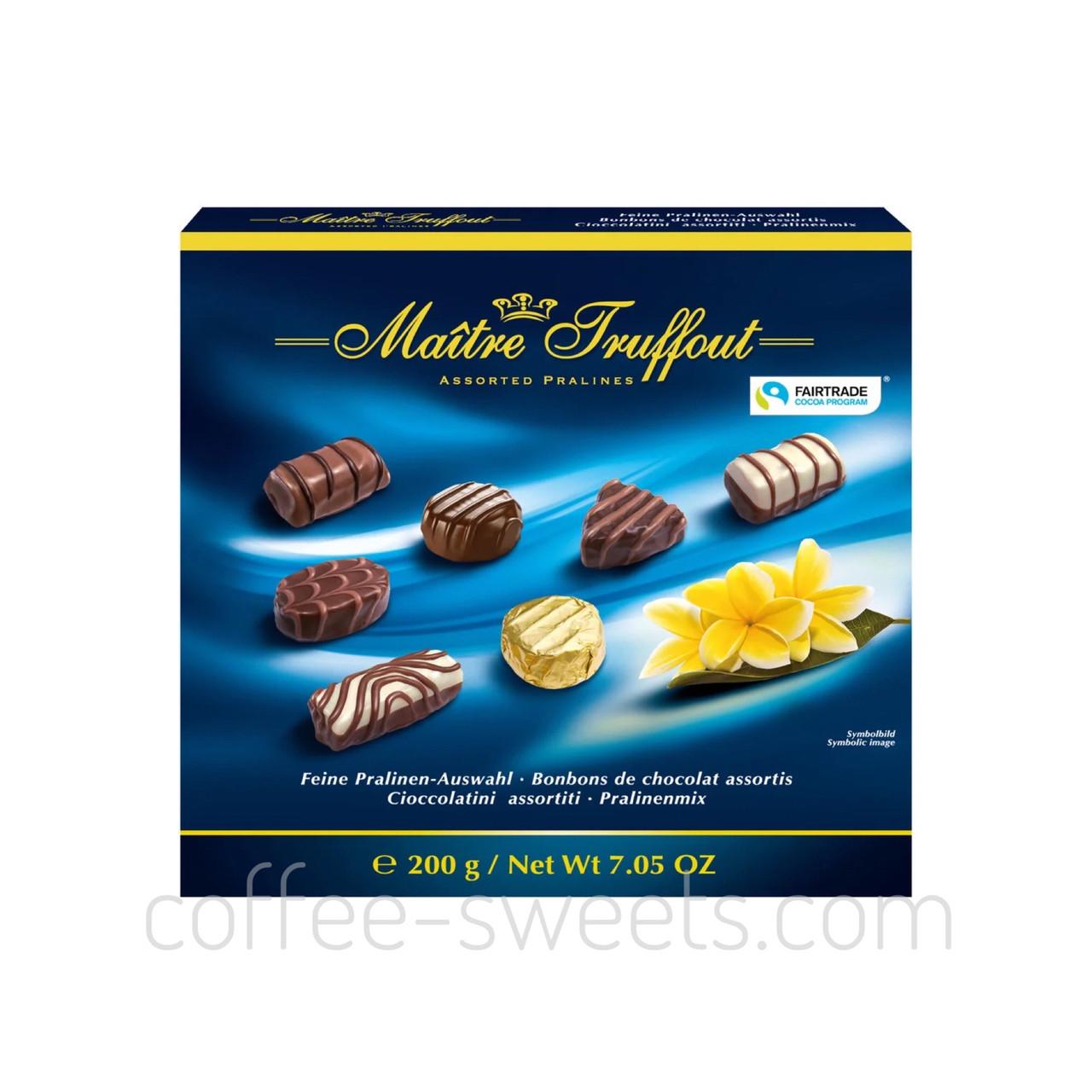 Шоколадные конфеты Maitre Truffout Assorted Pralines с пралине, 200 гр
