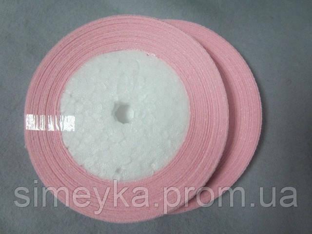 Лента атлас 0,5 см нежно-розовая. Заказ от 5 м
