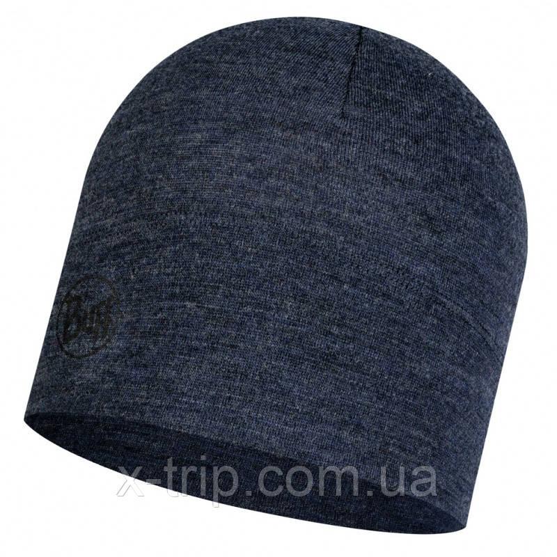 Бафф BUFF® Midweight Merino Wool Hat night blue melange