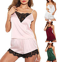 Женское кружевное эротическое белье. Сексуальный комплект - майка и шортики, фото 1