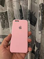 Чехол на Iphone 6s(Розовый)Silicone case накладка бампер силиконовый с подкладкой внутри