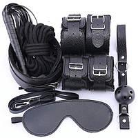 Набор для БДСМ игр (садо-мазо, BDSM атрибутика) 7 аксессуаров, фото 1