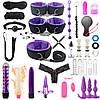 Набор для БДСМ с вибраторами, помпами, пробками и силиконовыми садками. BDSM набор, садо мазо атрибутика 35 шт