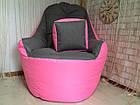 Бескаркасное кресло, кресло BOSS-(95х100х100), фото 6
