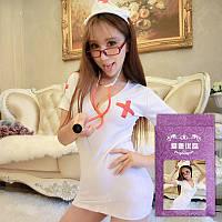 Эротический костюм похотливой медсестры. Сексуальный костюмчик медсестрички игровой, фото 1