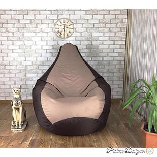 Кресло Мешок, бескаркасное кресло Груша L, XL, XXL, шоколад