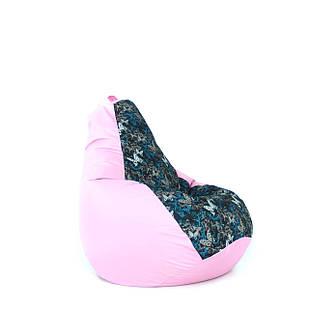 Кресло Мешок цветной, бескаркасное кресло Груша с принтом - L, XL, XXL