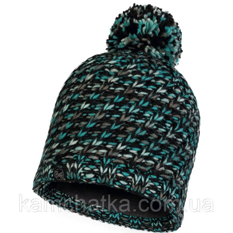 Шапка BUFF® Knitted & Polar Hat VALYA turquoise