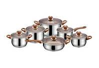 Набор посуды (Набор кастрюль) 12 пр. Royalty Line RL-1201