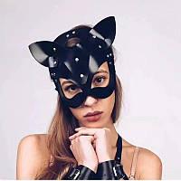Женская эротическая маска кошки БДСМ. BDSM, садо мазо атрибутика для ролевых игр, фото 1