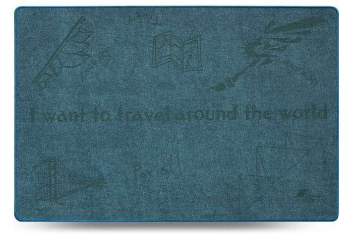 Коврик Универсальный Шерсть 60х90см Travel синий