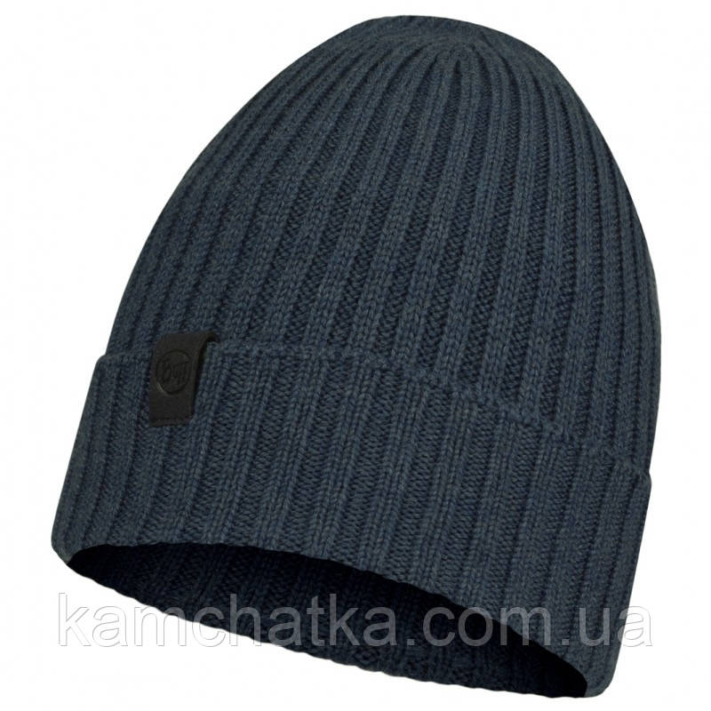 BUFF® Merino Wool Knitted Hat NORVAL denim