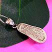 Серебряный кулон с опалом - Подвеска с опалом серебро - Кулон шлепок серебряный, фото 3