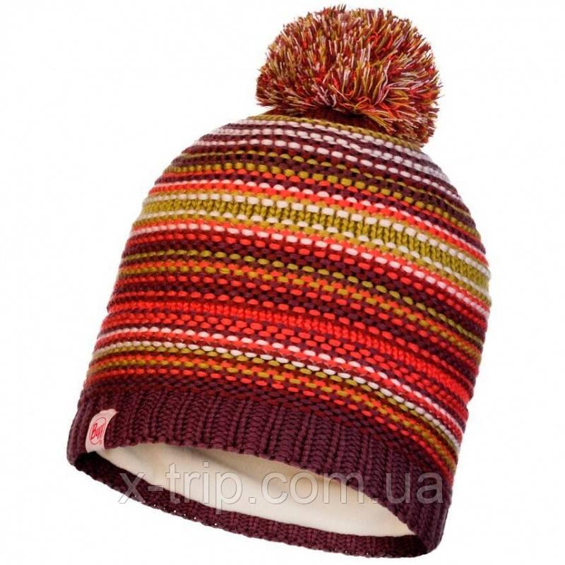 Шапка BUFF® Kids Knitted & Polar Hat AMITY maroon