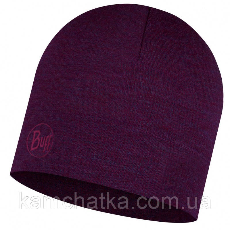 Бафф BUFF® Midweight Merino Wool Hat purplish melange