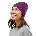 Бафф BUFF® Midweight Merino Wool Hat purplish melange, фото 2