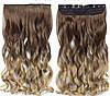 Волосся на заколках ТЕРМОСТІЙКІ омбре чорно-коричневі тресс волосся на заколках, фото 6