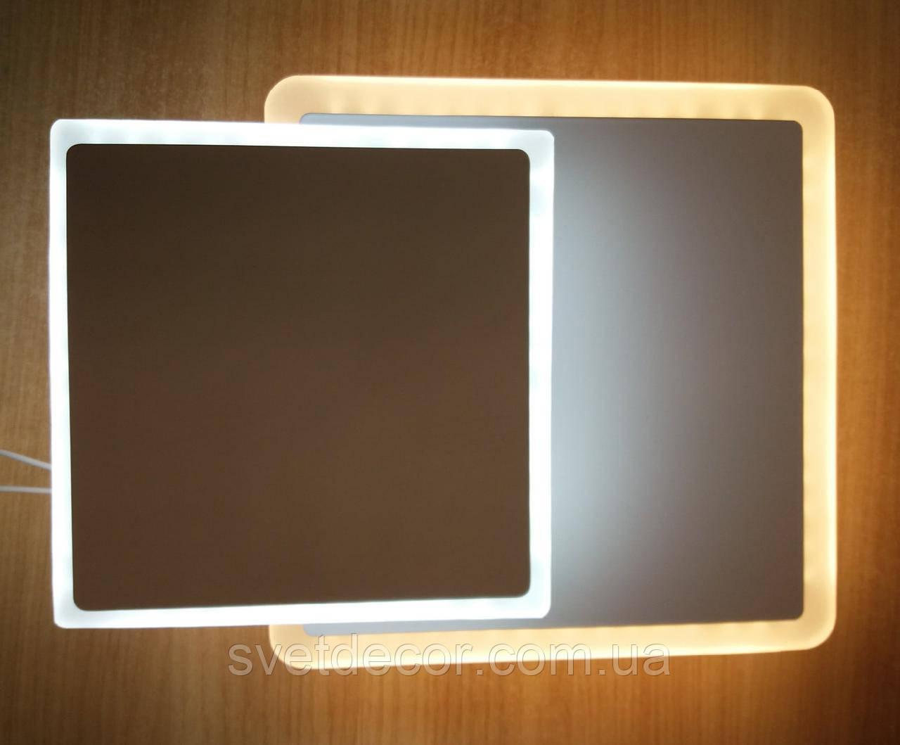 Настенный потолочный LED светильник бра 16W квадратный 517 (трансформер)