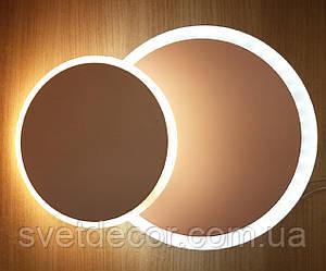 Настенный потолочный LED светильник бра 16W круглый 518 (трансформер)