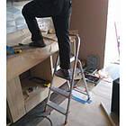 Стремянка алюминиевая 3 ступени Itoss 913 надежная и удобная трехступенчатая конструкция, фото 2