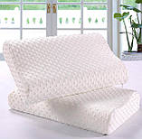 Ортопедическая подушка с эффектом памяти для здорового сна «Memory Pillow» White (WJ12) (12663), фото 2