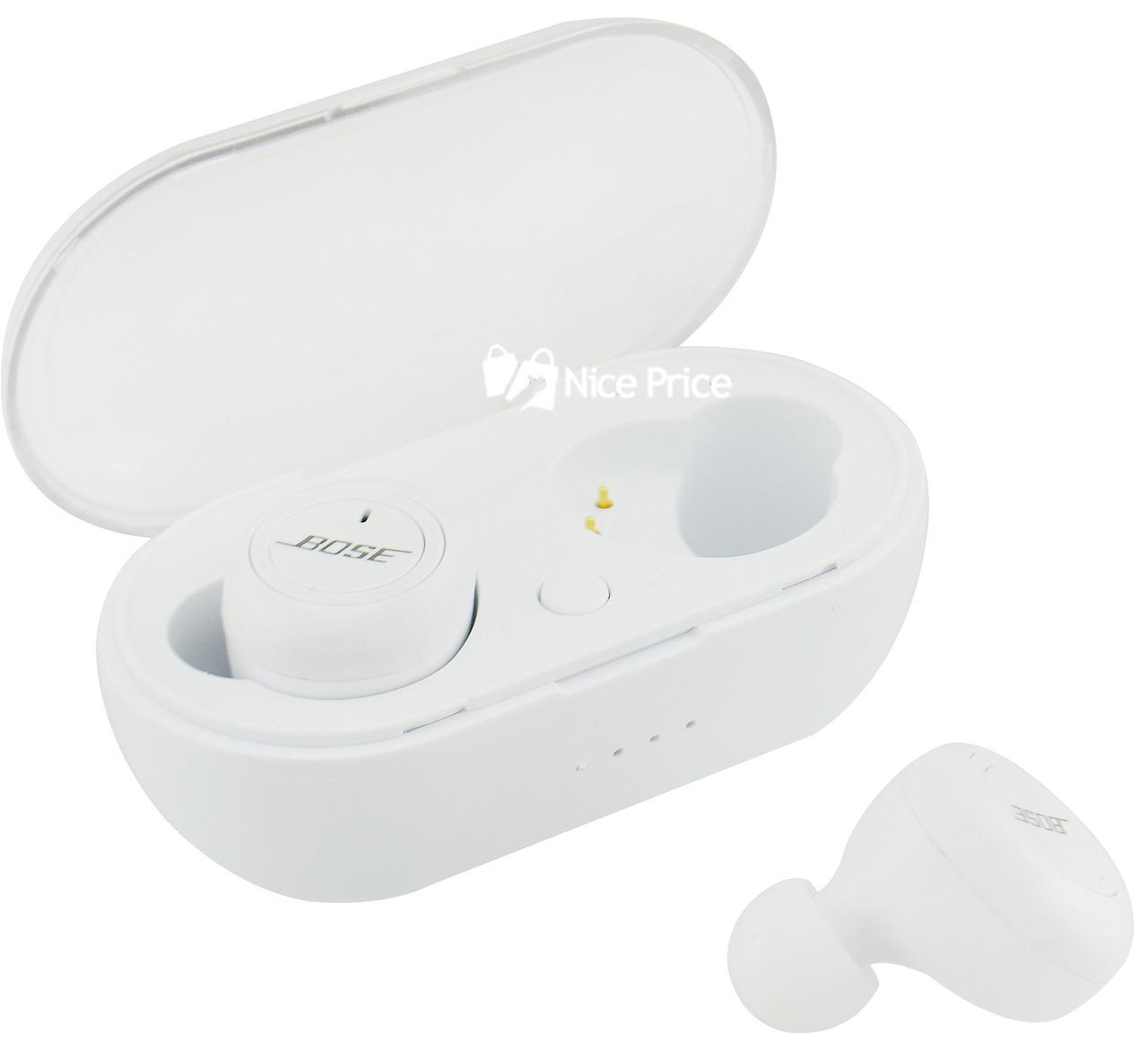 Беспроводные наушники c боксом Bose TWS-02 White (13699)