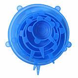 (УЦЕНКА) Круглая силиконовая крышка-пленка Super Stretch Silicone Lids (Набор из 6 шт) (2783) (114811), фото 6