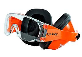 Противошумные наушники с очками Eye Muffs Orange (990-02)