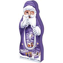 Новогодний подарочный набор Milka Naps Mix Санта, 115 грамм