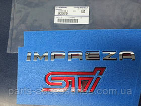 Subaru Impreza STI 2011-14 эмблема надпись Impreza STI на багажник новая оригинал