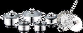 Набор посуды ( Набор кастрюль ) 12 предметов Royalty Line RL 1231