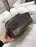 Сумочка комбінована нат.замша/кожзам якість люкс арт.1680, фото 9