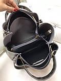 Сумочка комбінована нат.замша/кожзам якість люкс арт.1680, фото 7