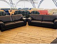 Кожаный коричневый диван шкіряний диван «Франк»