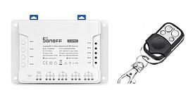 SONOFF 4CH R3 PRO DIY. Wifi реле времени. Сухие контакты 4х-канальный 10A 2200W 2.4Ghz с пультом управления