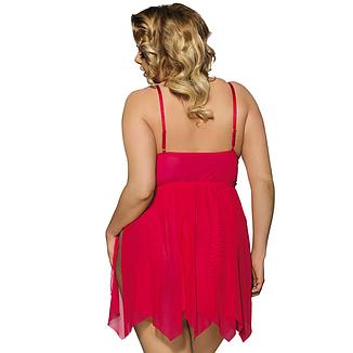 Эротический пеньюар с трусиками JSY 2XL красный, фото 2