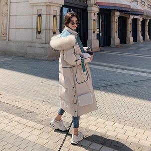Женская зимний пуховик длинный, фото 2