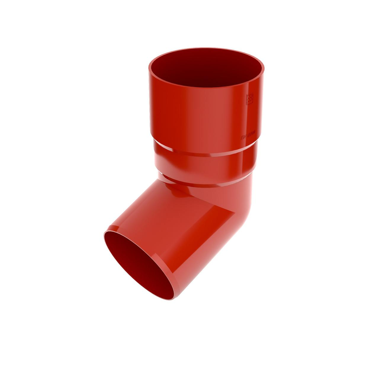 Коліно труби Колено 90 мм Водосточная система BRYZA Бриза ПВХ Польща красный 3011