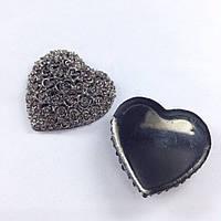 Кабошон сердце пластик 30х26мм