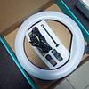Селфи лампа 360 мм, кільцева лампа направленої дії на штативі 215 див. Селфи лампа від мережі 220в, фото 2