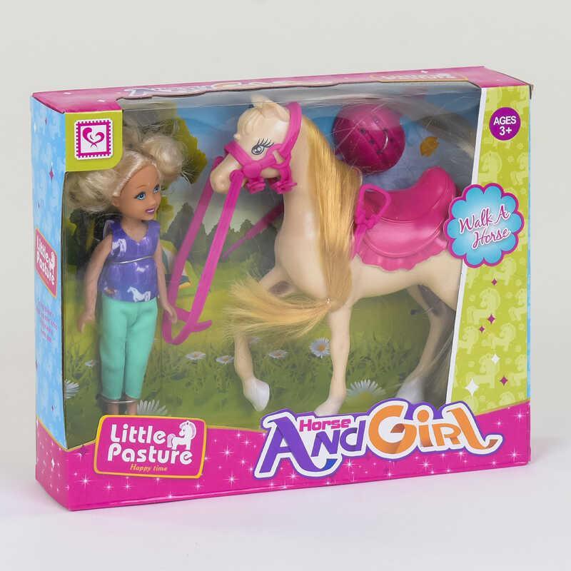 """Кукла К 899-59 (72/2) """"Наездница"""", лошадь, аксессуары, в коробке"""