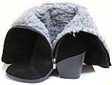 Сапоги женские на каблучке зимние от производителя ШТ203, фото 8