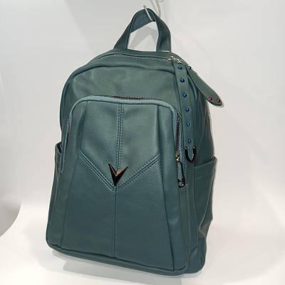 Красивый женский городской кожаный рюкзак.Модель 1619-5