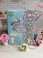 Детская книга альбом, фотоальбом с мамиными заметками и фото, ручная работа