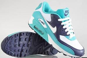 Nike Air Max 90 бирюзово -фиолетовый
