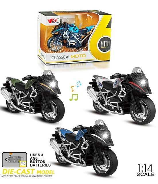 Мотоцикл металопластик MY 66 M 1218 (168/2) 3 види, інерція, звук, на батарейках в коробці