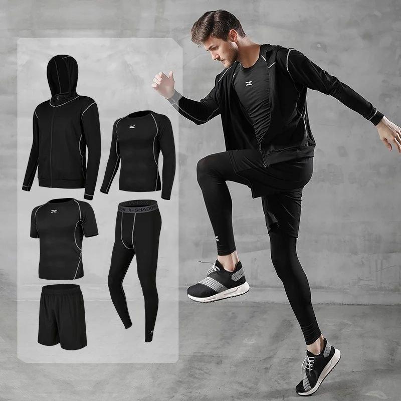 Компрессионная одежда. Комплект 5в1 для фитнеса и единоборств.