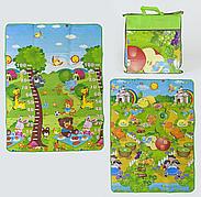 Детский двухсторонний коврик для игр С 36557, в сумке
